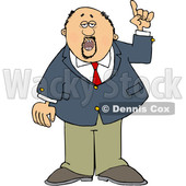 Cartoon Business Man Holding up a Finger and Talking © djart #1630767