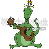 Cartoon Dragon Playing a Guitar © djart #1632444