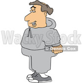 Cartoon Chubby Balding White Male Jogger in Sweats © djart #1632891