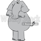 Cartoon Elephant Begging © djart #1633287