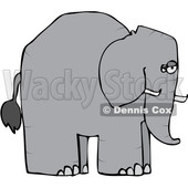 Cartoon Elephant in Profile © djart #1633288