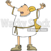 Cartoon Male Angel Holding His Arms up © djart #1633290