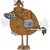 Cartoon Cow Photographer Taking Pictures © djart #1634220