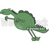 Cartoon Leaping Dinosaur © djart #1636249