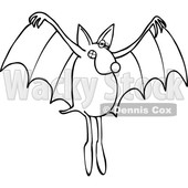 Cartoon Black and White Dog Bat © djart #1637310