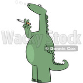 Cartoon Dinosaur Smoking a Cigarette © djart #1637325