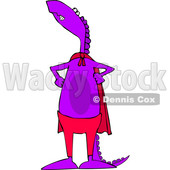 Cartoon Dinosaur Super Hero © djart #1637326