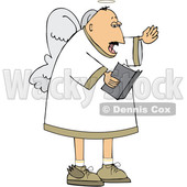 Cartoon White Male Angel Singing © djart #1637806