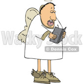 Cartoon White Male Angel Singing © djart #1637808