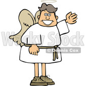 Cartoon Male Angel Waving or Presenting © djart #1637809