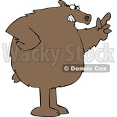 Cartoon Angry Brown Bear Wagging a Finger © djart #1641089