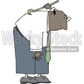 Cartoon Black Business Man Scratching His Back © djart #1641094