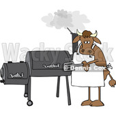 Cartoon Cow Using a Smoker © djart #1642111