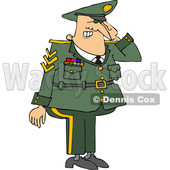 Cartoon Saluting Military Man © djart #1644267