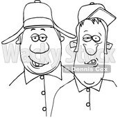 Cartoon Black and White Redneck Hillbilly Men © djart #1647089