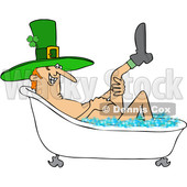 Cartoon St Patricks Day Leprechaun Taking a Bath © djart #1647985