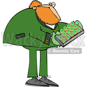 Cartoon St Patricks Day Leprechaun Holdinga Tray of Cookies or Cakes © djart #1648161