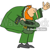 Cartoon Leprechaun Bowing with His Hat off © djart #1648699