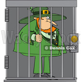 Cartoon Leprechaun in Jail © djart #1648886
