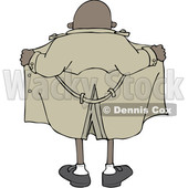 Cartoon Flasher Man from Behind © djart #1651970