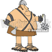 Cartoon Chubby Executioner Holding an Axe and Flail © djart #1651972
