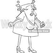Cartoon Lineart Woman Steaming from Anger © djart #1655918
