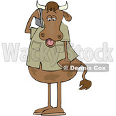 Cartoon Cow Talking on a Cell Phone © djart #1661612