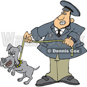 Cartoon Dog Catcher wIth a Pooch on a Leash © djart #1664049