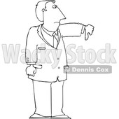 Lineart Business Man Holding a Thumb down © djart #1665679