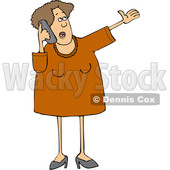 Cartoon Talkative Woman Yaking Away on a Cell Phone © djart #1665686