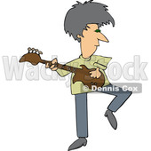 Cartoon Rock and Roller Playing a Guitar © djart #1665775