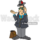 Cartoon Salesman Talking on a Phone © djart #1666028