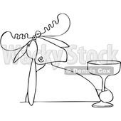 Depressed Moose Holding a Cocktail © djart #1668264