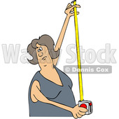 Woman Using a Tape Measure © djart #1668268