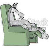 Cartoon Horse Sleeping in a Reclining Chair © djart #1669142