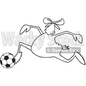 Cartoon Moose Playing Soccer © djart #1681024