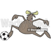 Cartoon Moose Playing Soccer © djart #1681026