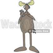 Cartoon Moose Texting © djart #1683826
