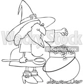 Witch Making a Spell in Her Cauldron © djart #1686711