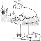Cartoon Santa Using Tools © djart #1689193