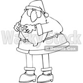 Cartoon Santa Claus Taking a Picture © djart #1692266