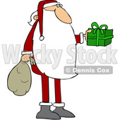 Cartoon Santa Claus Holding out a Gift © djart #1692268