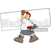 Cartoon Sheetrock Worker © djart #1692535