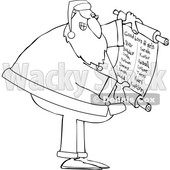 Cartoon Santa Claus Reading a Good List © djart #1693806