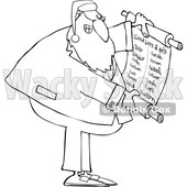 Cartoon Rabbi Santa Claus Reading a Good List © djart #1693808