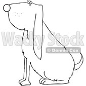 Cartoon Sitting Bloodhound Dog © djart #1693809
