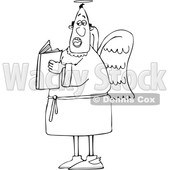 Cartoon Male Angel Holding a Book © djart #1694589