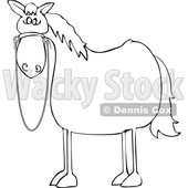 Cartoon Lineart Startled Horse © djart #1695720