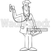 Cartoon Male Doctor Using a Stethoscope © djart #1696508