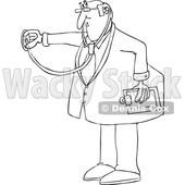 Cartoon Male Doctor Using a Stethoscope © djart #1696509